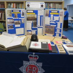 Display at Family History 40th Anniversary event at Heritage Hub. (Gloucestershire Police Archives URN 9556)