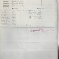 Record of Service for George  Jordan. (Gloucestershire Police Archives URN 9302)