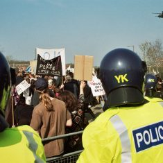 Fairford Peace Protest 22nd March 2003. (Gloucestershire Police Archives URN 9737)
