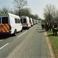 Fairford Peace Protest 22nd March 2003. (Gloucestershire Police Archives URN 9739)