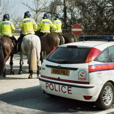 Police horses ready for action. (Gloucestershire Police Archives URN 9740)