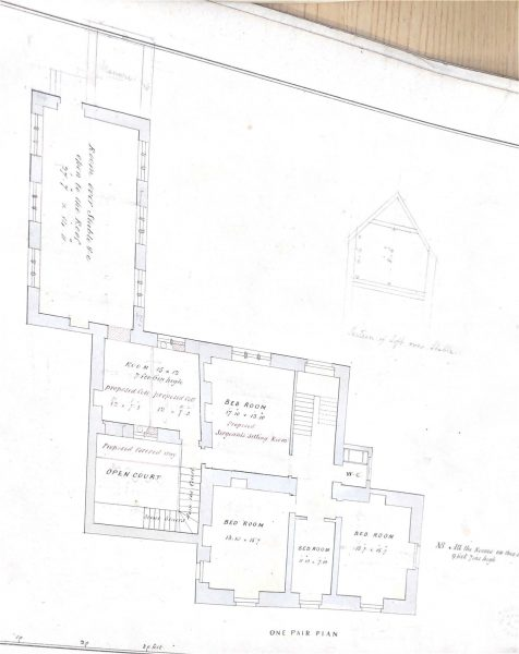Plans for the building of Stroud Police Station. (Gloucestershire Police Archives URN 10002)