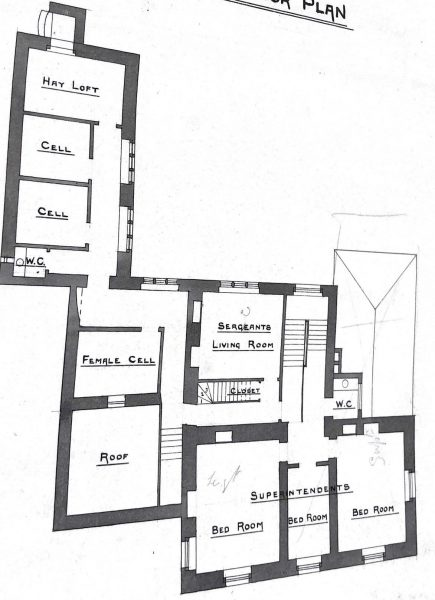 First floor including female cells (Gloucestershire Police Archives URN 10010)