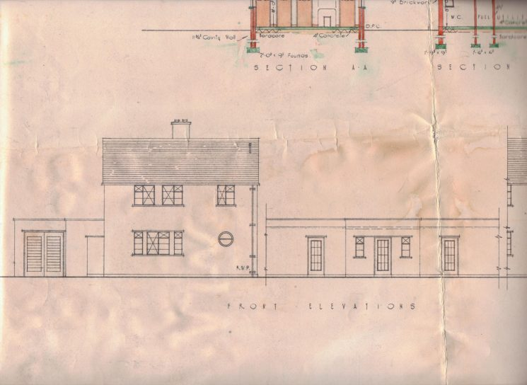 Plans of Staunton Police Station (Gloucestershire Police Archives URN 1671-10)
