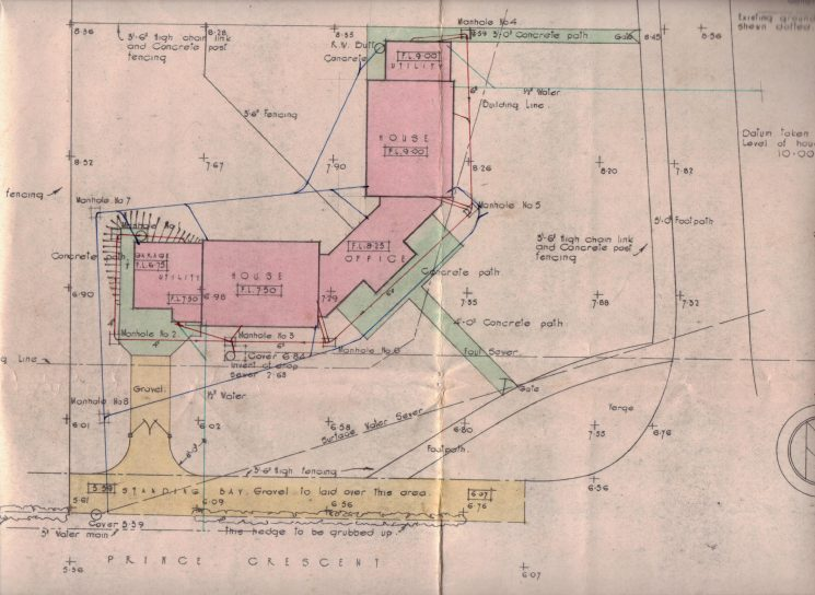 Plans of Staunton Police Station (Gloucestershire Police Archives URN 1671-11)