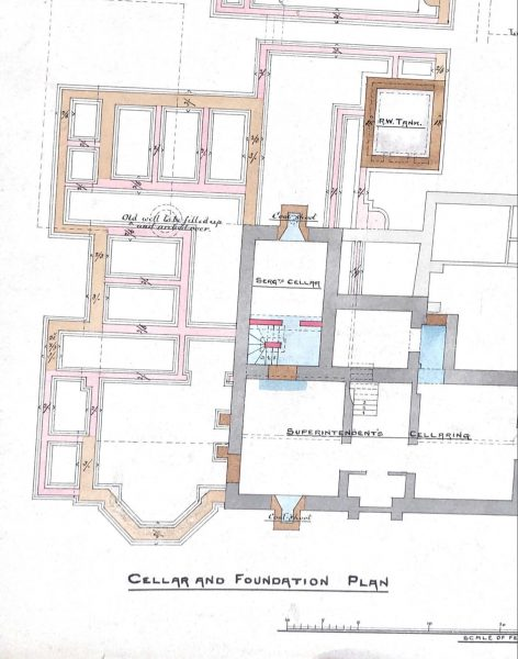 Cellar and Foundation Plan of Stroud Police Station. (Gloucestershire Police Archives URN 9990)
