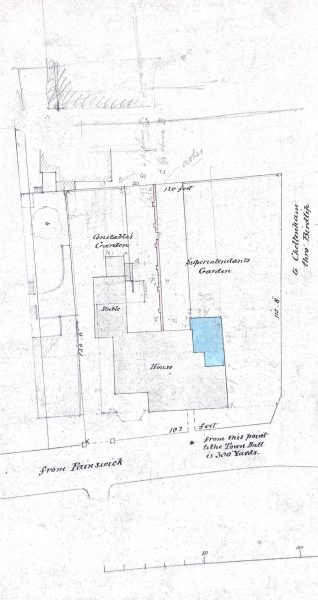 Plan of the site of Stroud Police Station. (Gloucestershire Police Archives URN 9994)