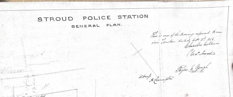 Early work on Stroud Police Station. (Gloucestershire Police Archives URN 9996)