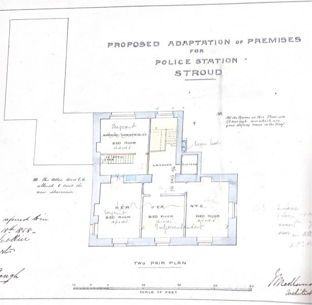 Changes to be made for the building of Stroud Police Station. (Gloucestershire Police Archives URN 9999)