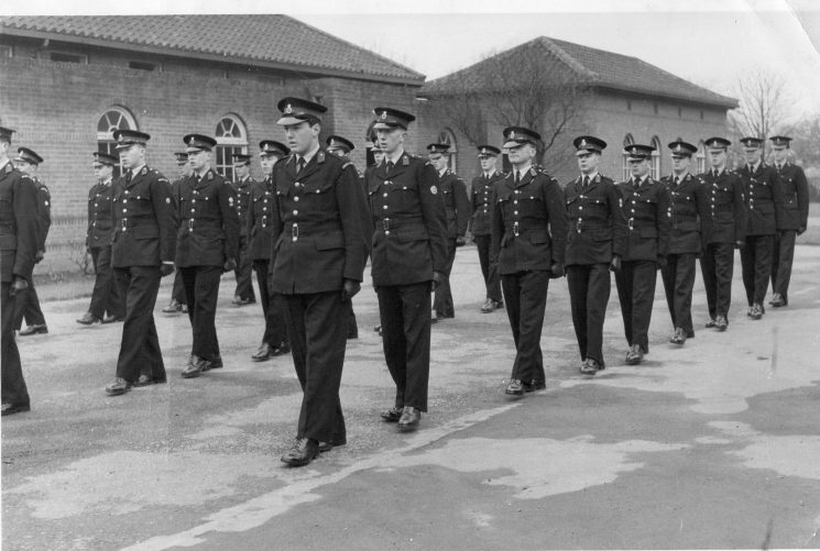 Cadets Friday afternoon drill session. (Gloucestershire Police Archives 10025) | Photograph from John Bryant