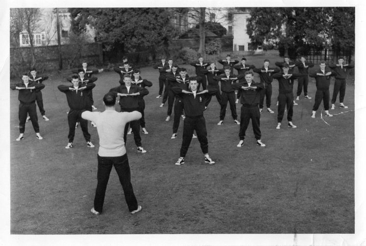 Cadet physical training session. (Gloucestershire Police Archives 10026) | Photograph from John Bryant
