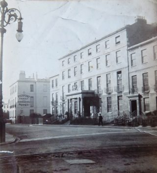Gloucestershire Police Headquarters Crescent Place Cheltenham. This was the headquarters before the move to New Court Lansdown Road Cheltenham. (Gloucestershire Police Archives 10030)