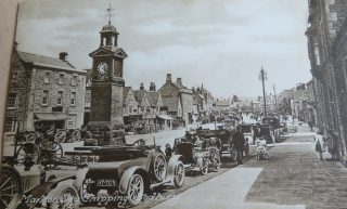 Market Day in Chipping Sodbury 1920s also showing the police station. (Gloucestershire Police Archives 10035)
