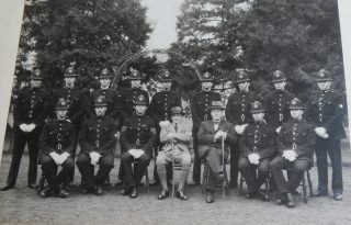 Joiners photograph with  Chief Constable Stanley Clark, Deputy Chief Constable Goulder. (Gloucestershire Police Archives 10038)