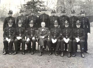 Joiners photograph with Deputy Chief Constable Goulder in centre. (Gloucestershire Police Archives 10039)