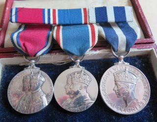 Group of medals belonging to Deputy Chief Constable JWP Goulder Jubilee medal, 1935 Coronation Medal 1937 Kings Police Medal. (Gloucestershire Police Archives 10042)