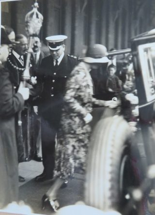 JWP  Goulder during  what appears to be a royal visit. (Gloucestershire Police Archives 10059)