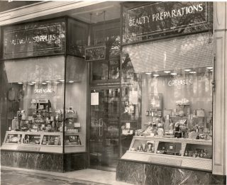 This shop belonged to  Joseph Lovell Goulder the son of Deputy Chief Constable Goulder and was at 90 The Promenade Cheltenham. This  site is now occupied by Reiss. (Gloucestershire Police Archives 10067)