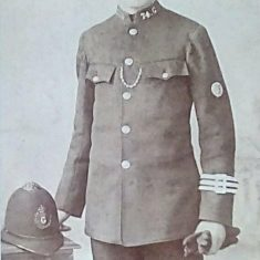 Thought to be Police Constable James Smith who joined the constabulary in 1881 and was still serving in 1911. (Gloucestershire Police Archives 10081)