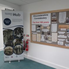 Display at the Heritage Hub during Gloucester History Festival 2019. (Gloucestershire Police Archives URN 10194)