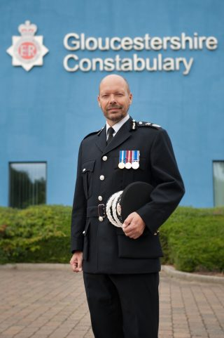 Chief Constable Rod Hansen 2019 (Gloucestershire Police Archives URN 10236)
