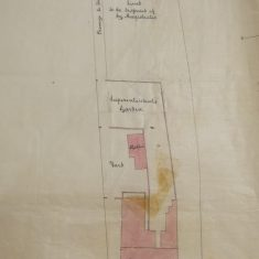 Ground plan of Chipping Sodbury Police Station(Gloucestershire Police Archives URN 10287-3)