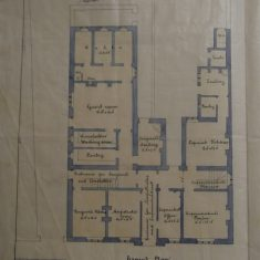 Ground floor plan of Chipping Sodbury Police Station(Gloucestershire Police Archives URN 10287-6)