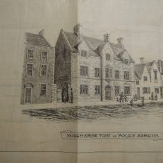 North east view of Chipping Sodbury Police Station(Gloucestershire Police Archives URN 10287-8)