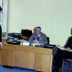 Chief Constable White and Chief Inspector Parker interview a new recruit? (Gloucestershire Police Archives URN 10314)
