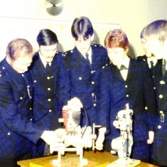 Ian Lewis, Rod Wells, Pete Walker, Jane Benson, Mike Jones. (Gloucestershire Police Archives URN 10315)