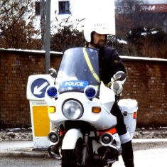 Police Constable Brian Ireland on a BMW R75/7(Gloucestershire Police Archives URN 10374)