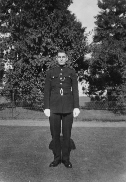 Police Constable at Staple Hill (Gloucestershire Police Archives URN 10449) | Photograph from Ray Ricketts