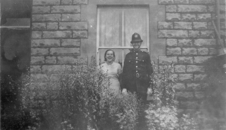 Police officer and wife? at Staple Hill (Gloucestershire Police Archives URN 10450) | Photograph from Ray Ricketts
