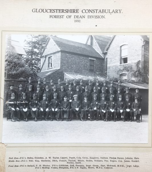 Forest of Dean Division 1932 (Gloucestershire Police Archives URN 1111) | Photograph from Geoff Cann