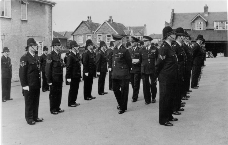 Her Majesty's Inspectorate of Constabulary Inspection at Staple Hill 1954. (Gloucestershire Police Archives URN 585)