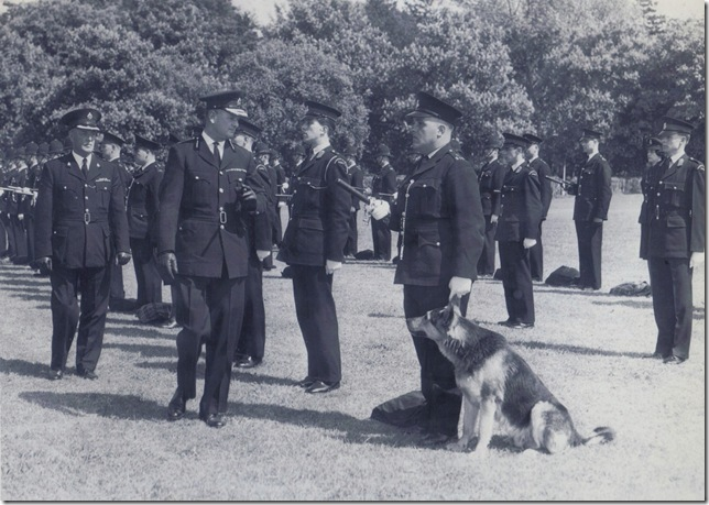 Divisional parade in Page Park Staple Hill .Thought to be the summer of 1962. (Gloucestershire Police Archives URN 9124)