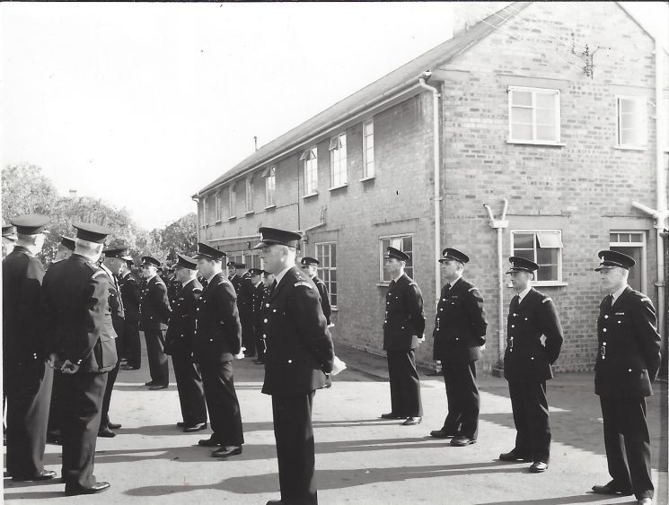 Parade at Staple Hill. (Gloucestershire Police Archives URN 9394
