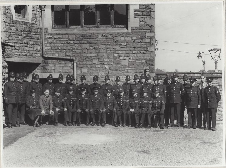 Staple Hill Division includes Woman Police Constable Millichip seated far left. She served in the constabulary from 1930-58 (Gloucestershire Police Archives URN 9406)