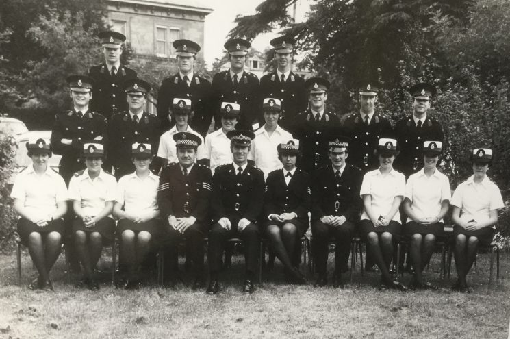 Police Cadets End of Year Photo July 1977. (Gloucestershire Police Archives URN 10520)