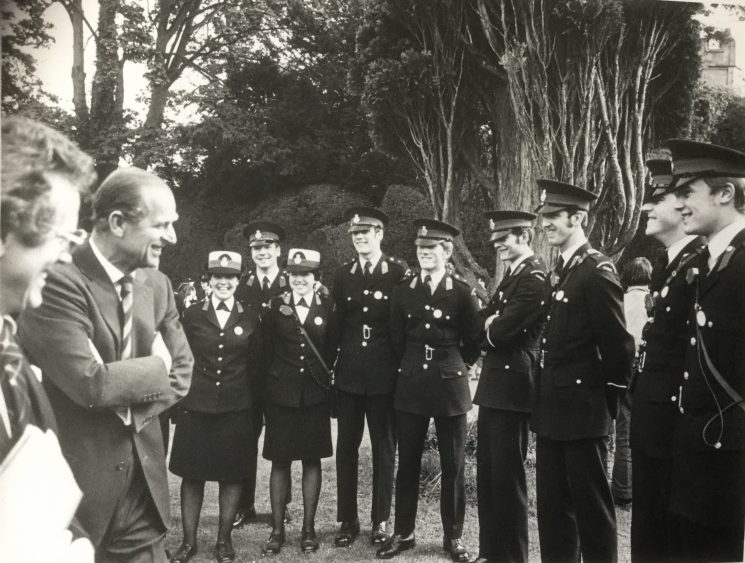 Duke of Edinburgh visit to Cowley Manor 1978 Photo 1 (Gloucestershire Police Archives URN 10522)