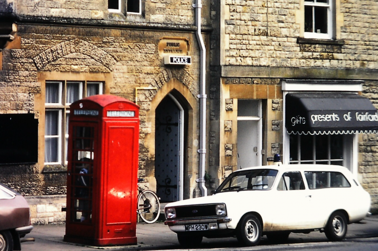 MFH230W outside Fairford Police Station 1982. | Photograph from Derek Freeman