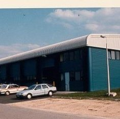 New Police Vehicle Workshops, Bamfurlong at time of opening 1978. (Gloucestershire Police Archives URN 687)
