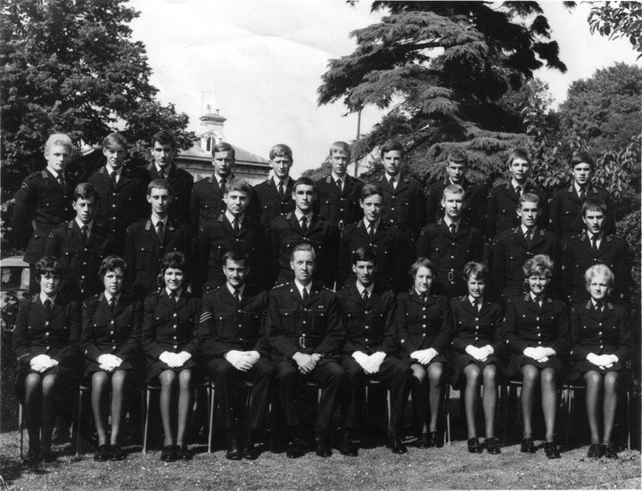 Gloucestershire Constabulary Police Cadets - Sept 1970 onwards. Back Row from left to right; Gary Powell : Roy Tyler (RIP) : Roly Shere-Massey : Mike Hogsden : Ian Lewis : Geoff Gregor : Nigel Barrett : Chris Shackleton : Phil Uzzell : Graham Dean Middle Row; Clive Harrison : Phil Sutton : Mike Leach : John Phelps : John Lane : Alan Marsh : Martin Sullivan : John Mapstone Front Row; Pam Murphy : Elaine Cooke : Wendy Salter : Sgt David Price : Chief Inspector Bob Parker : Police Constable Dick Griffiths : Elaine Bell : Sue Stringer : Heather Griffiths : Briony Huck (Gloucestershire Police Archives URN 9936) | Photograph from John Lane