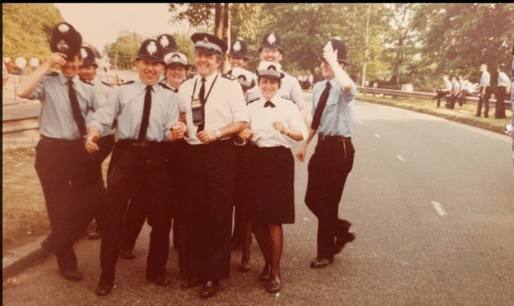 Gloucestershire officers in Liverpool for the Pope's visit in May 1982. Inspector Ray Fortey in centre. (Gloucestershire Police Archives URN 10665) | Photograph from Tim Fortey