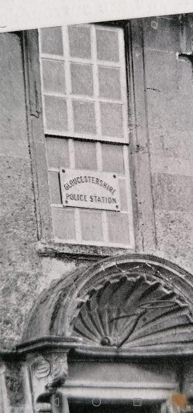 Marshfield Police Station sign 1920s. (Gloucestershire Police Archives URN 10689) | Photograph from Wendy Hope