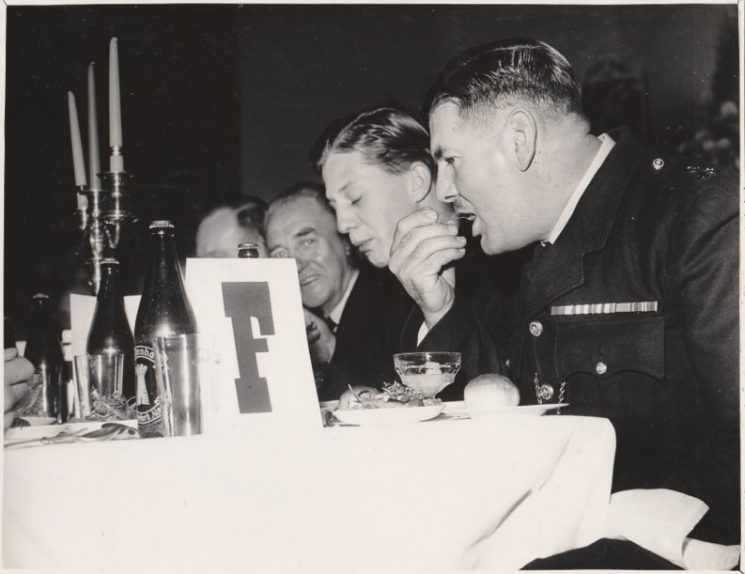 Thought to be the Sherriff's Dinner year not known, Police Constable William Newman closest to camera. (Gloucestershire Police Archives URN 10744) | Photograph from Jenifer Hone
