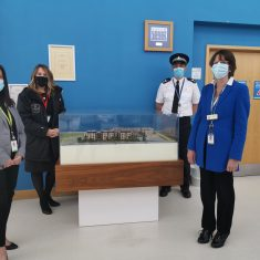 On 12th April 2021 Shelly Morewood from Cala Homes presented the model of the redeveloped site to Gloucestershire Constabulary. (Gloucestershire police Archives URN 10825)