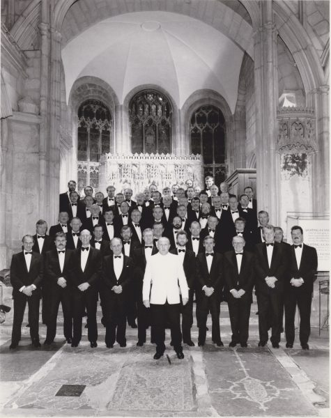 Gloucestershire Police Male Voice Choir. Gloucester cathedral 1990.