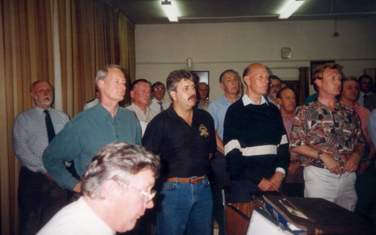 Choir Practice at the Fire Station late 80s